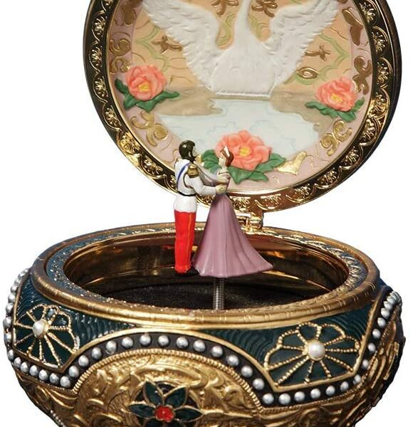 The San Francisco Music Box Company Anastasia - Alexandra and Nicholas Hinged Trinket Box