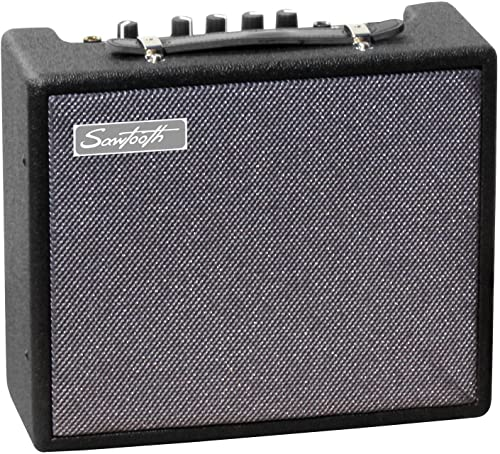 Sawtooth 10 Watts Electric Guitar Amp with Pick Sampler and Instrument Cable