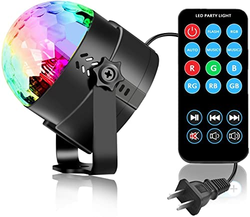 Vnina DJ Party Lights with Color Sound Activated
