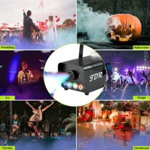 JDR Fog Machine with LED Light and Remote Control